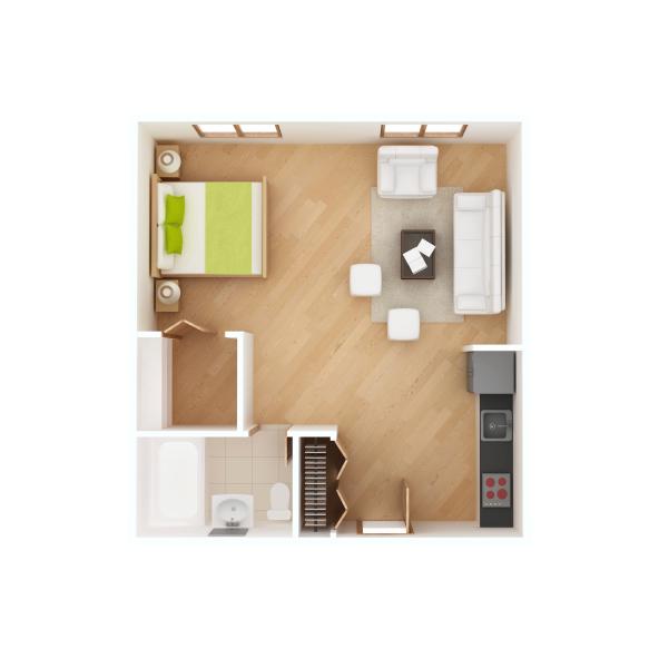 La surface moyenne d'un logement en investissement locatif est de 41m²