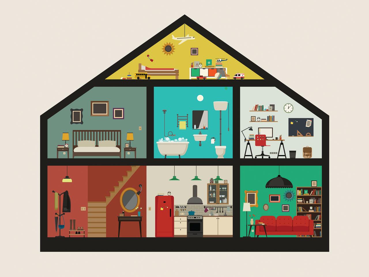 La superficie moyenne d'un logement est de 102 m²