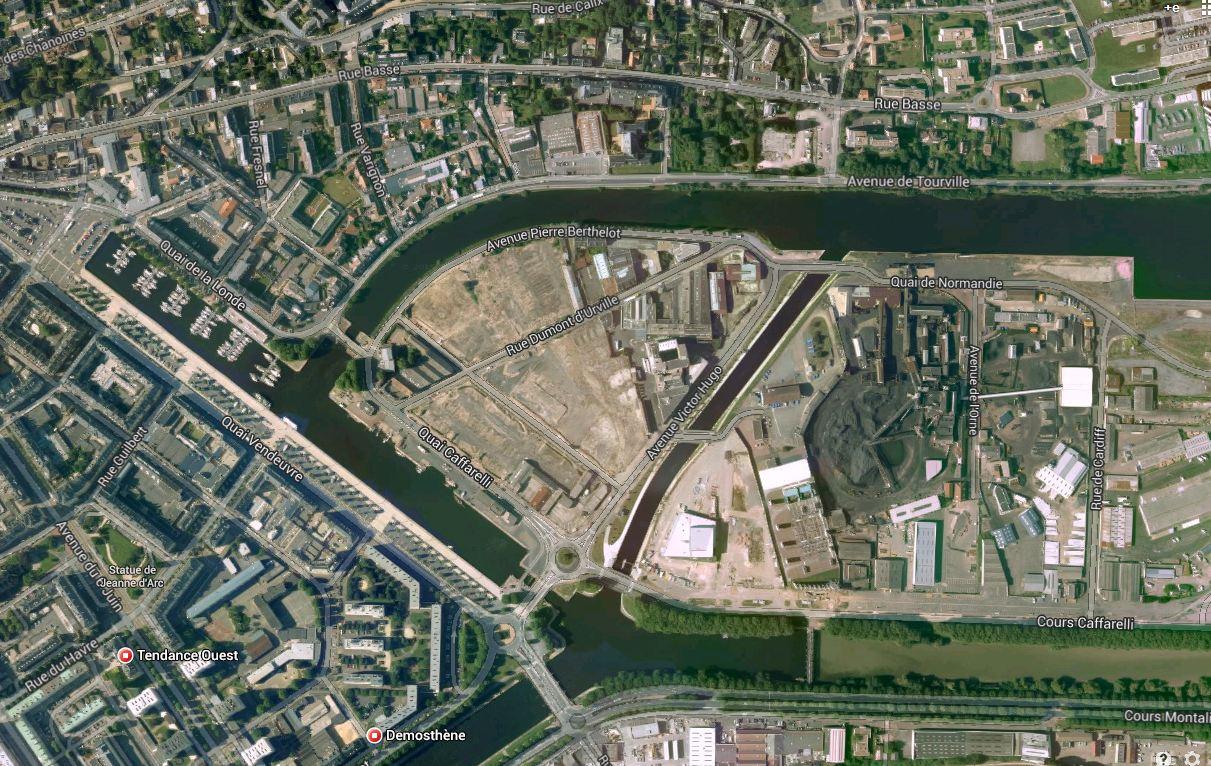 Le réaménagement de la presqu'île de Caen