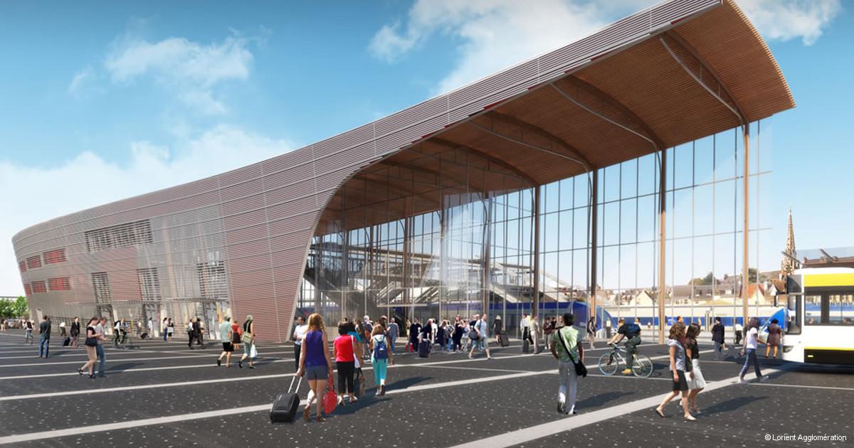 Lorient, une nouvelle gare et un quartier flambant neuf