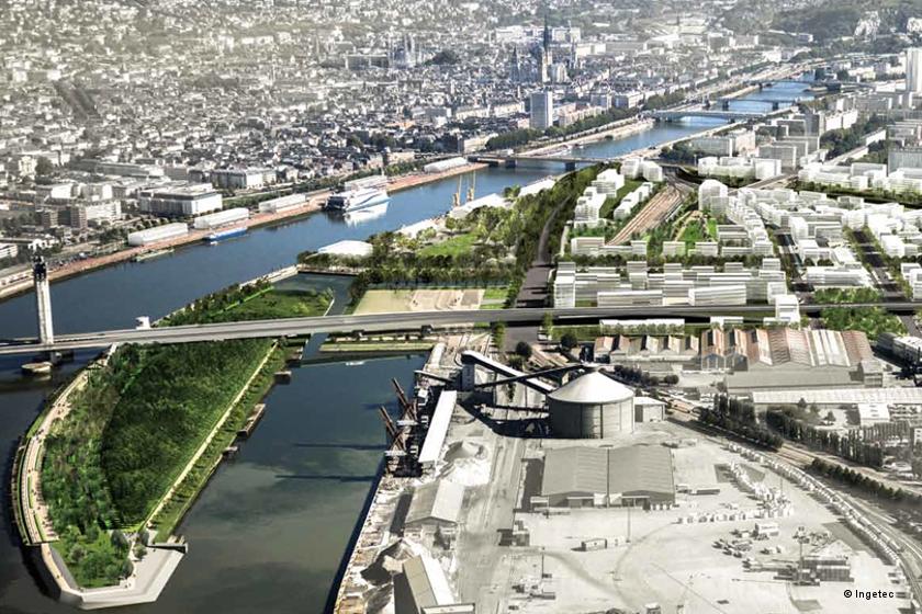 Rouen écoquartie Flaubert rive gauche