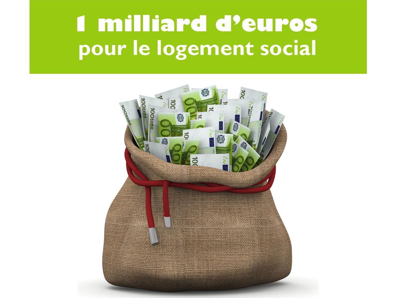 Un milliard d'euros supplémentaire pour le logement social