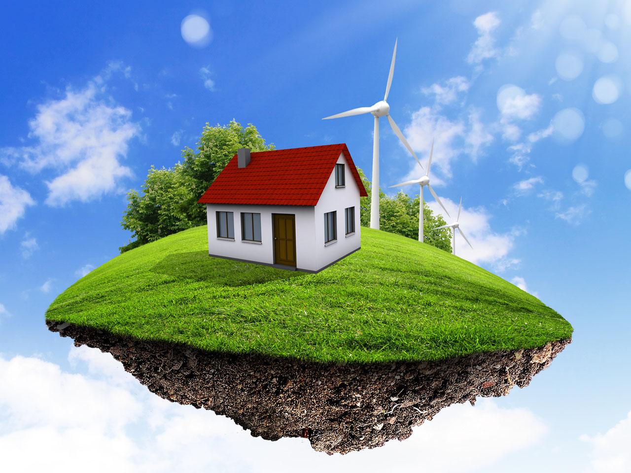 Un couple de Canadiens se construisent une île maison écologique