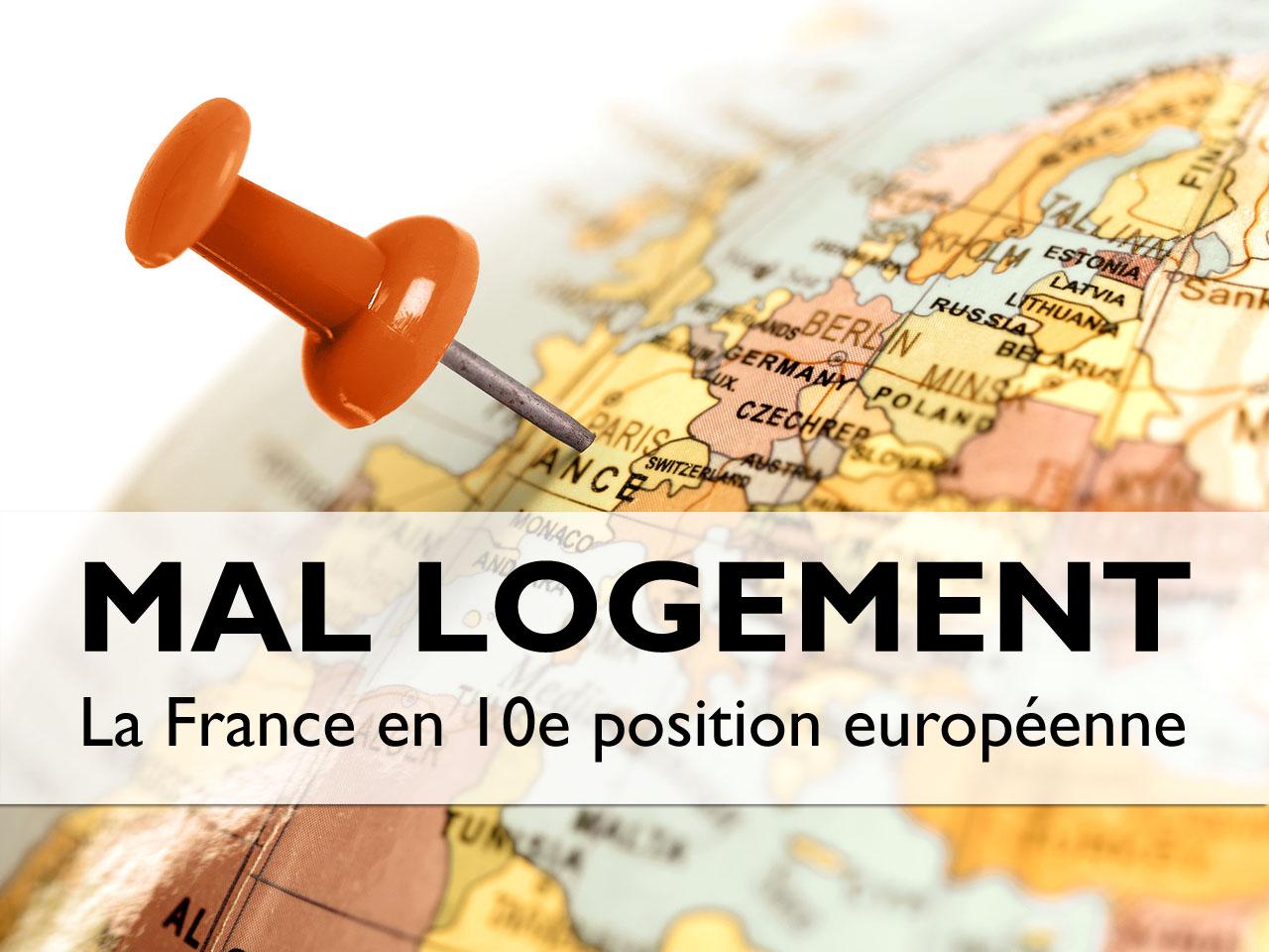 La France en dixième position du mal-logement en Europe