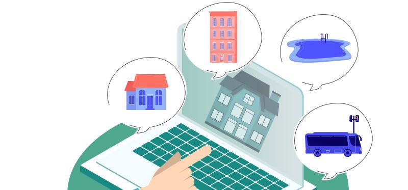 Infographie immobilier : achat d'une maison ou d'un appartement