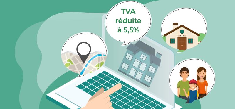 Infographie immobilier : l'achat en TVA réduite