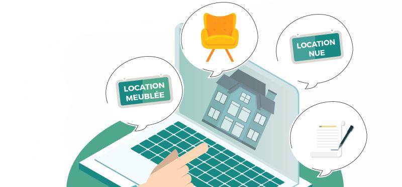 Infographie immobilier : louer vide ou meublé
