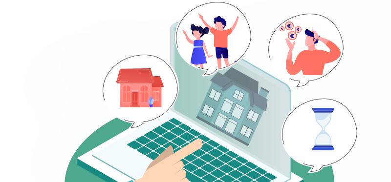 Infographie immobilier : la transmission d'un bien