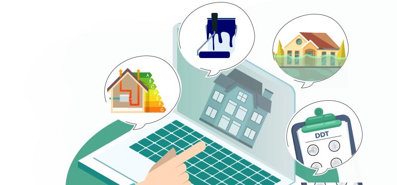 Infographie immobilier : diagnostics immobiliers
