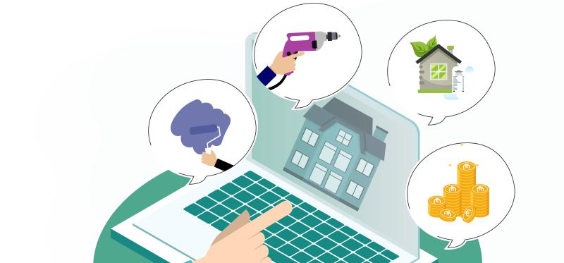 Infographie immobilier : effectuer des travaux chez vous