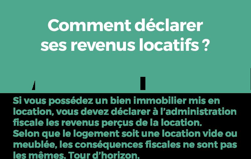 Conséquences fiscales location d'un bien